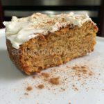 Receta de carrot cake (tarta de zanahoria) sin azúcar y sin leche