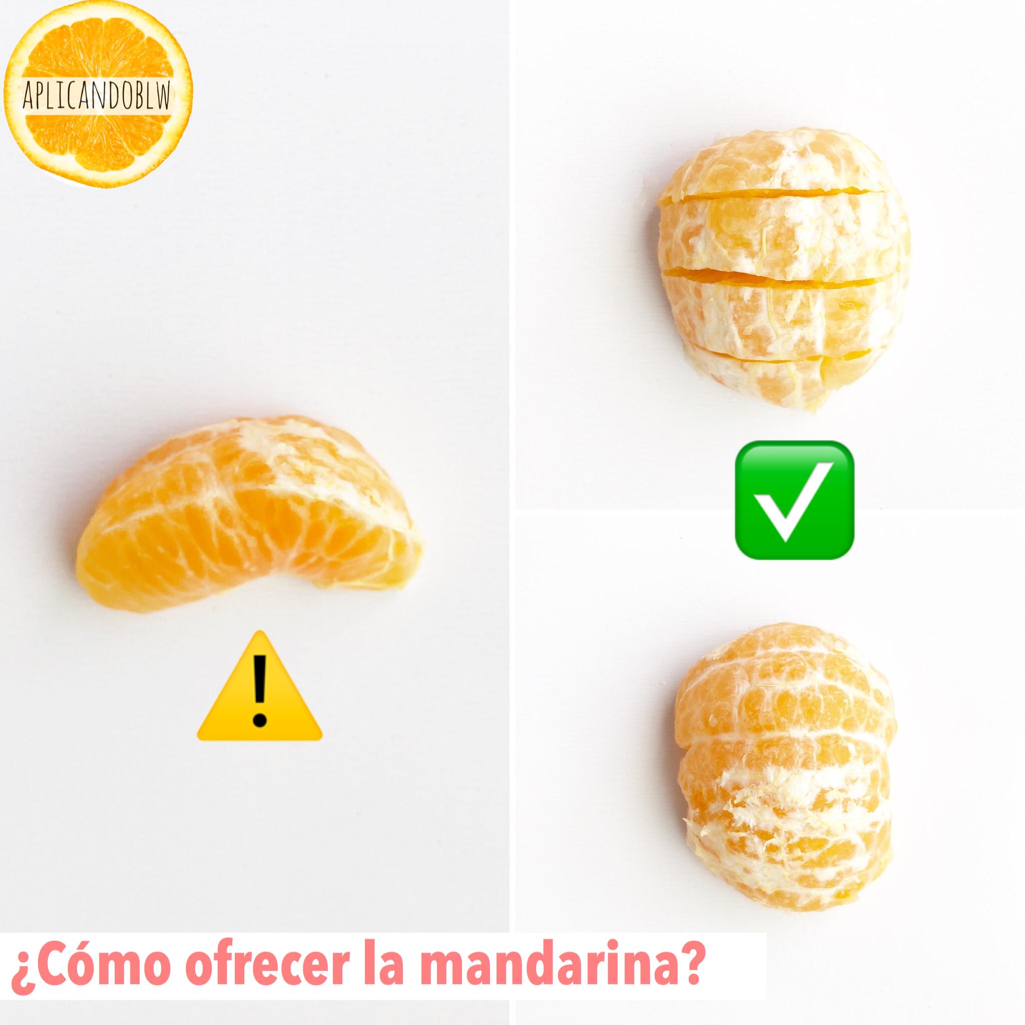 ¿Se puede ofrecer mandarina haciendo Baby Led Weaning?¿Cómo?